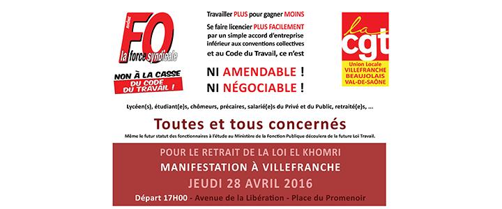 grève interpro 28 avril Villefranche